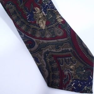 Liberty Of London Floral Pattern Wool Tie
